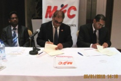 Signature of contract with sponsors for the National Sports Award 2011